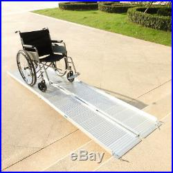 10Ft Portable Aluminum Wheelchair Ramp Loading Scooter Mobility Handicap Ramps