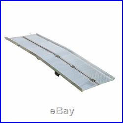 10' Aluminum Folding Loading Ramp Handicap Wheelchair Scooter Mobility Threshold