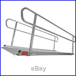 10' Aluminum Wheelchair Entry Ramp & Handrails Surface Scooter Mobility Access