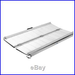 10 FT Aluminum Fold Portable Wheelchair Ramp Mobility Handicap Scooter Ramp