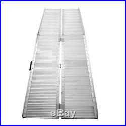 10 FT Aluminum Ramp Folding Wheelchair Scooter Mobility Portable Anti-Slip Ramps