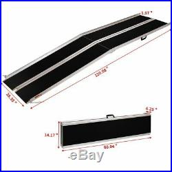 10' Folding Aluminum Wheelchair Ramp Portable Mobility Scooter Carrier