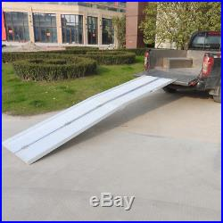 10'Folding Portable Aluminum Wheelchair Ramp Mobility Scooter Handicap Threshold