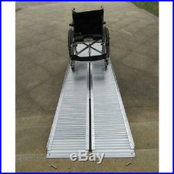 10' Portable Ramp Aluminum Folding Mobility Scooter Wheelchair Threshold USA