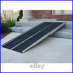 10' ft Aluminum Folding Wheelchair Scooter Mobility Ramp Portable Non-Slip VIP