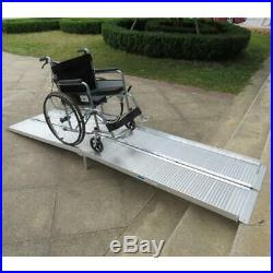 10ft High Grade Portable Folding Wheelchair Ramp Mobility Scooter Carrier NEW