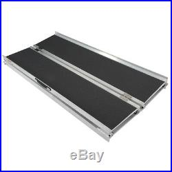 120 Multifold Aluminum Non-Skid Wheelchair Scooter Threshold Mobility Ramp