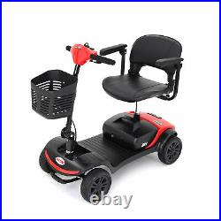 12Ah 24VX300W Motor 4 Wheel Electric Powered Wheelchair Compact Mobility Scooter