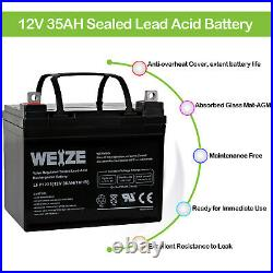 12V 35AH Battery for Pride Mobility Wheelchair Power Chair Rally Scooter 2 Pack