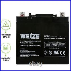 12V 55Ah 22NF UB12550 Replacement Scooter Wheelchair Mobility Deep Cycle Battery