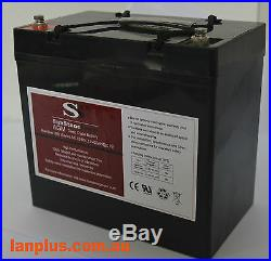 12V 60AH AGM DEEP CYCLE Battery Mobility Scooter Golf Cart Wheelchair 55Ah 6FM6