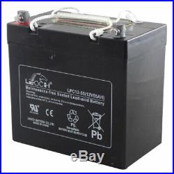 12 Volt 55 AH 22NF Battery Scooter Wheelchair Mobility Deep Cycle AGM LPC12-55