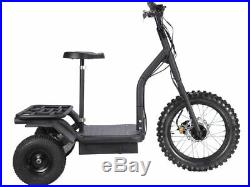15 MPH Electric Power Off Road 3 Wheeler Trike 48v ATC Scooter Mobility Cart