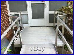 20' Aluminum Wheelchair Entry Ramp & Handrails Surface Scooter Mobility Access
