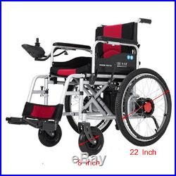 22''Dual Motors A3 Electric Power Wheelchair Lithium Mobility Scooter for 100KG