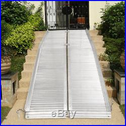 2/3/6/7/10ft Folding Aluminum Wheelchair Ramp Portable Mobility Scooter Carrier