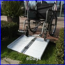 2/4/5/6/8/10FT Aluminum Wheelchair Ramp Multifold Scooter Mobility Threshold