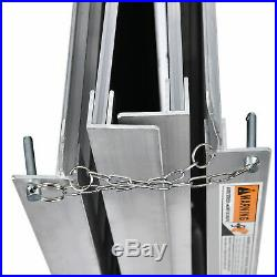 2/5/6/7/8ft Portable Aluminum Wheelchair Ramp Non-skid Mobility Scooter Carrier