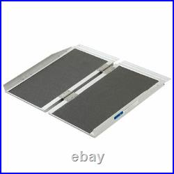 2' Folding Mobility Wheelchair Scooter Ramp Portable Aluminum