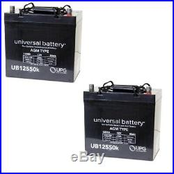 2 PACK NEW 12V 55Ah Scooter Wheelchair Mobility Deep Cycle SLA AGM Battery