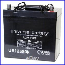 2 PACK UPG UB12550 12V 55AH 45825 Battery Scooter Wheelchair Mobility Deep Cycle