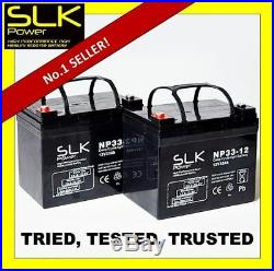 2 x 12v 33ah MOBILITY SCOOTER WHEELCHAIR BATTERIES REPLACE 30AH 34AH 35AH 36AMP
