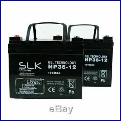 2 x 12v 36AH LONG LIFE GEL TECHNOLOGY MOBILITY SCOOTER WHEELCHAIR BATTERIES