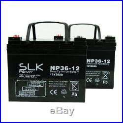 2 x 12v 36AH MOBILITY SCOOTER WHEELCHAIR BATTERIES UPGRADE 30ah 32 33 34 35amp
