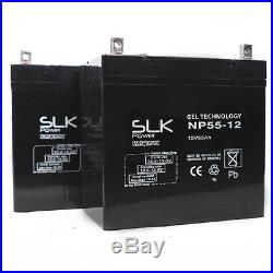 2 x 12v 55Ah MOBILITY SCOOTER WHEELCHAIR GEL BATTERIES