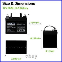 2x12V 35Ah Battery for Pride Mobility Jet 3 Ultra WheelChair Rascal 600T Scooter
