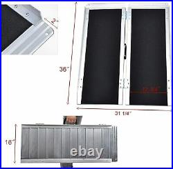 3FT Aluminum Non-skid Folding Wheelchair Ramp Stable 4 Wheeled Mobility Scooter
