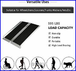 3' Aluminum Wheelchair Ramp Portable Scooter Medical Mobility Handicap Threshold