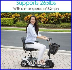 3-Wheel Adult Electric Mobility Scooter Mobile Wheelchair Folding Long Range New