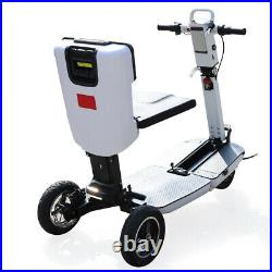 3-Wheel Electric Mobility Scooter Folding E-Scooter 3 Speeds Mode with Wheelchair