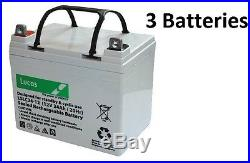 3 x Lucas 34AH Batteries for Mobility Scooter Wheelchair (32AH 33AH) V