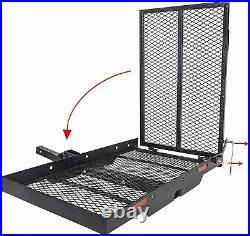 400 Lb Power Wheelchair Mobility Scooter Folding Hitch Carrier Rack with Ramp