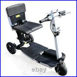 48V Electric 3 Wheel Folding Mobility Scooter 3 Speeds E-Scooter+Wheelchair 350W