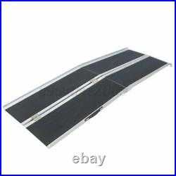 4FT Folding Aluminum Wheelchair Ramp Portable Mobility Scooter Carrier 600lbs US