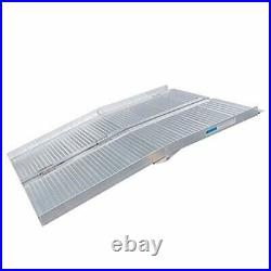 4FT Folding Aluminum Wheelchair Ramp Scooter Mobility Handicap Ramps for Home