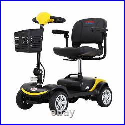 4 Folding Wheel Wheelchair Mobility Scooter Electric Powered Travel Elder 8KM/H