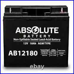 4 PACK AB12180 12V 18AH Replacement Battery EW72 Mobility Scooter Wheelchair
