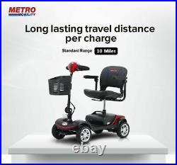 4 Wheel Compact Electric Mobility Scooter Adult Travel Power Scooter Wheel Chair