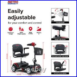 4-Wheel Mobility Scooter Electric Powered Wheelchair Device Folding Elderly 25KM