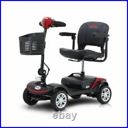 4 Wheel Mobility Scooter Electric Powered Wheelchair Device Travel Compact