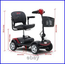 4 Wheel Mobility Scooter Electric Powered Wheelchair Device for Travel 8KM/H