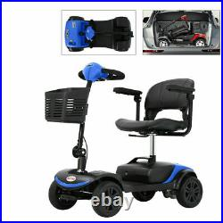 4 Wheel Mobility Scooter Powered Wheelchair Electric Device Compact for Travel