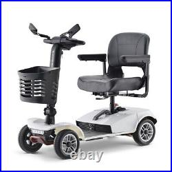 4 Wheels Mobility Scooter Electric Powered Wheelchair for Travel Adults Elderly