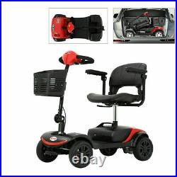 4 Wheels Mobility Scooter Power Wheel chair Electric Device Compact for Travel
