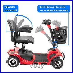 4-wheel Powered Mobility Scooter Electric Wheelchair Collapsible Compact Duty US