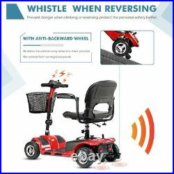 4 wheels electric mobility scooter adjustable fold chair lightweight wheelchair